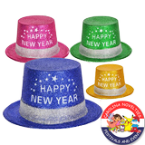 "11"" ""HAPPY NEW YEAR"" GLITTER HAT"